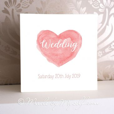Watercolour Heart Invitation